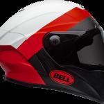 BELL RACESTAR CARBON FLEX DLX 2020 - קסדת בל רייס-סטאר קרבון בטכנולוגיית פלקס אדום/לבן בוהק