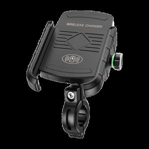 מתקן טלפון אוניברסלי לאופנוע/קטנוע כולל טעינה אלחוטית